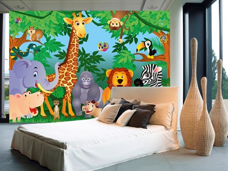 image gallery jungle wallpaper mural the dream by rousseau wall mural murals wallpaper