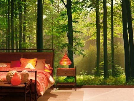 Autumn forest 8 sheet woodland wall mural buy online for Enchanted forest bedroom wall mural