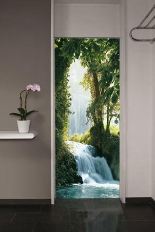 Zaragoza falls waterfall in the pyrenees 1 sheet door for Door wall mural