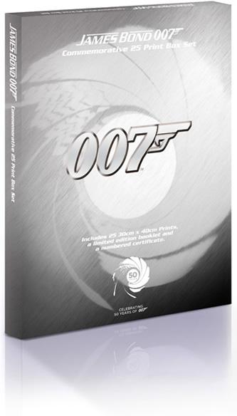 James Bond 007 Commemorative 25 Print Boxset - Limited Edition, Celebrating 50 Years of 007