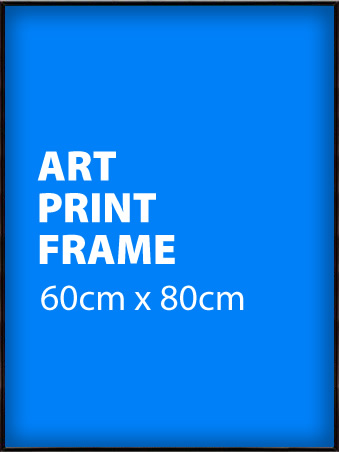 60x80cm Gloss Black Poster Frame - Suitable for Art Prints