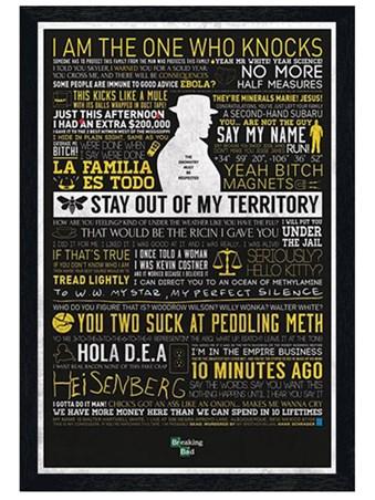 Black Wooden Framed The Many Sayings of Walter White Framed Poster
