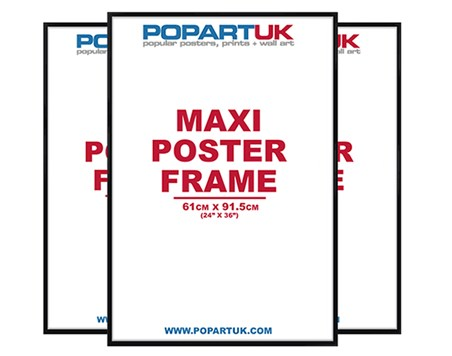61x91.5cm Gloss Black Poster Frames - Multipack of 3