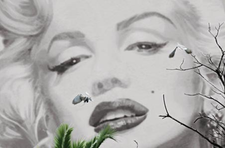 Marilyn � Cannes by Valery Hache - Digital Art Mini Mural