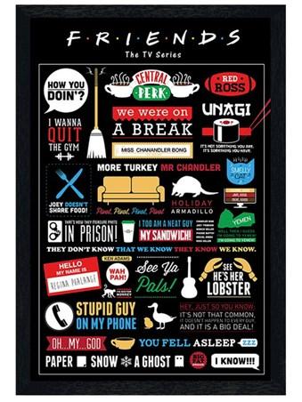 Black Wooden Framed Infographic Framed Poster