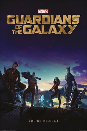 You're Welcome Guardians of the Galaxy Poster