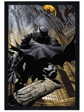 Black Wooden Framed Batman Comic Framed Poster