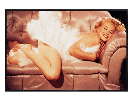 Gloss black framed a diva on the sofa marilyn monroe - Marilyn monroe diva ...