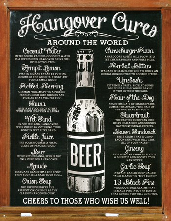Hangover Cures Around The World - Cheers To Those Who Wish Us Well
