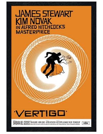 Black Wooden Framed Vertigo Framed Poster