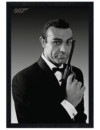 Black Wooden Framed Sean Connery is James Bond - The Name's Bond... James Bond