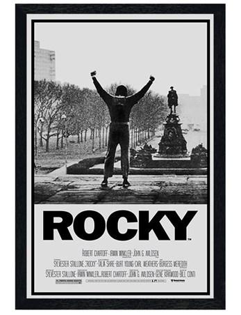 Black Wooden Framed Rocky Movie Score Framed Poster