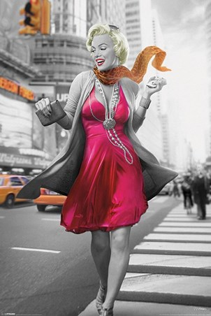 New York Walk Marilyn Monroe Poster