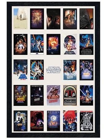 Black Wooden Framed Star Wars Collage, Film Posters - Buy ...