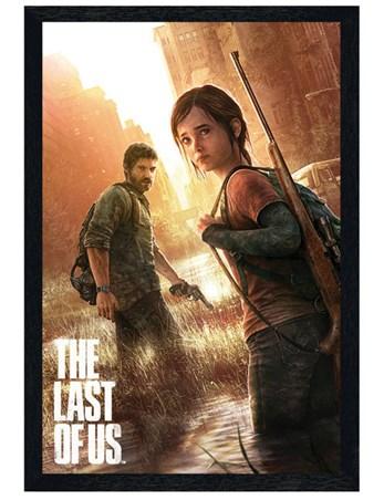 Black Wooden Framed The Last Of Us Framed Poster