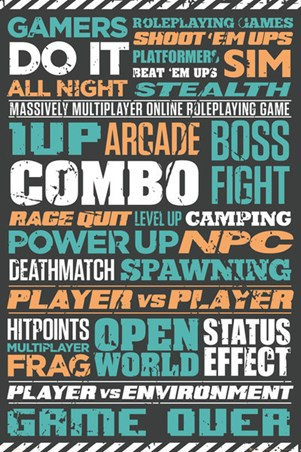 Gaming Typographic Poster