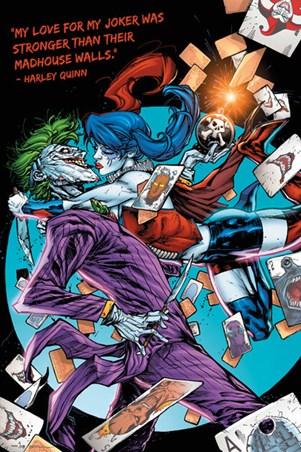 Love For The Joker, Harley Quinn Poster - Buy Online Joker Comic Poster