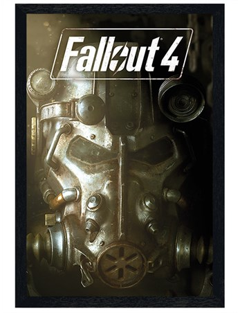 Nuclear mask fallout 4 poster buy online for Fallout 4 canvas painting