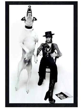 Black Wooden Framed Diamond Dogs Framed Poster