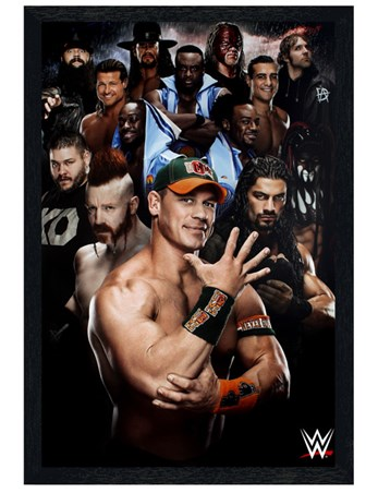 Black Wooden Framed Superstars 2016 - WWE