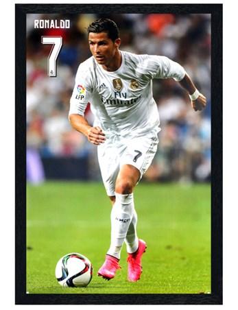 Black Wooden Framed Ronaldo Framed Poster