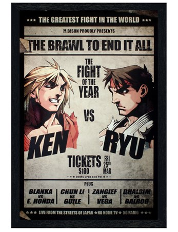 Black Wooden Framed The Brawl To End It All Framed Poster