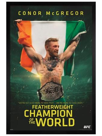 Black Wooden Framed UFC Framed Poster
