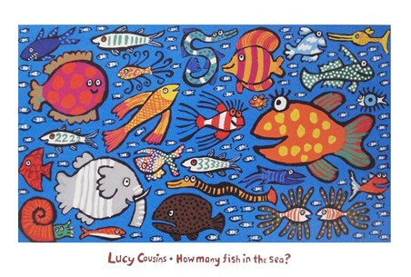 How many fish in the sea lucy cousins print buy online for How many fish are in the ocean