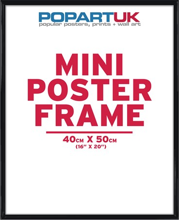 40x50cm Gloss Black Poster Frame - Suitable for Mini Posters