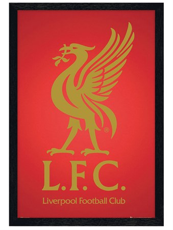 Black Wooden Framed The Reds Badge - Liverpool F.C.