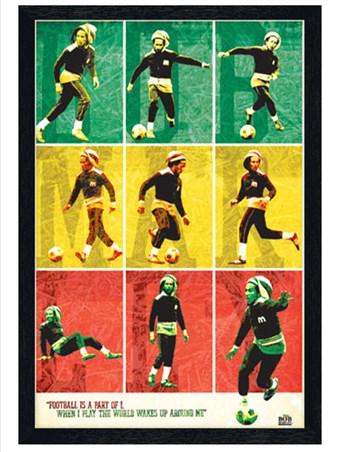 Black Wooden Framed Football is Part of I Framed Poster