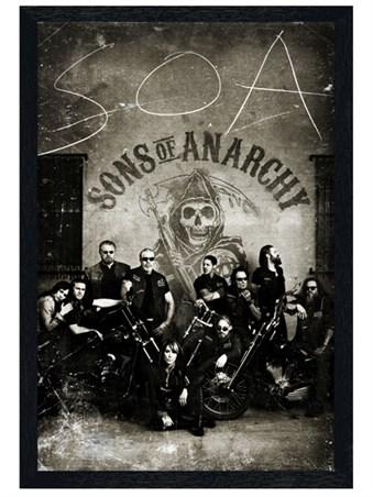 Black Wooden Framed Vintage Bikers - Sons of Anarchy