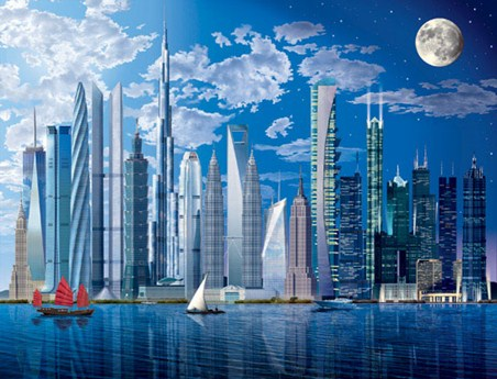 The world 39 s tallest buildings 8 sheet architecture wall - Poster mural leroy merlin ...