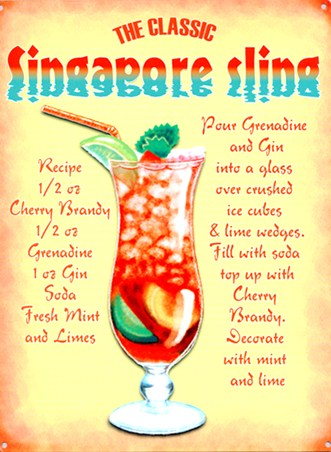 The Classic Singapore Sling - Cocktail Recipe