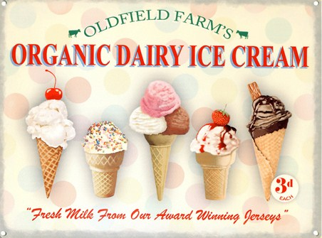 Organic Dairy Ice Cream - Oldfield Farms