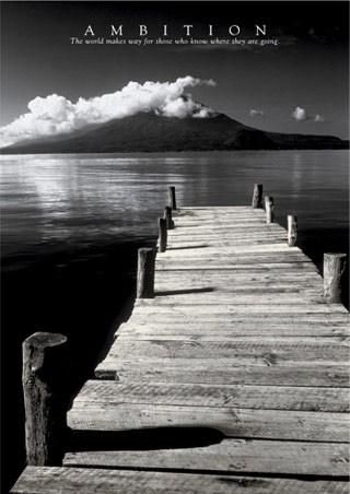 Black & White Jetty - Ambition, Aspirational