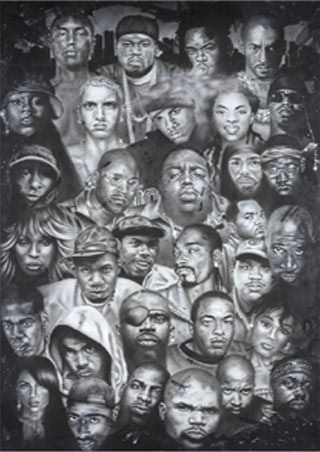 Hip Hop Rap Gods - Artist Collage