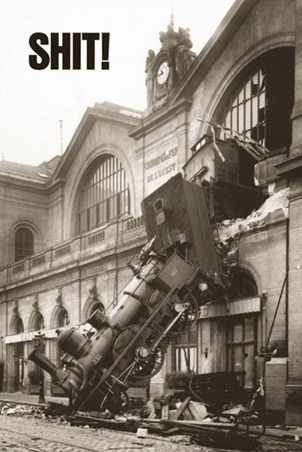 Shit! - Montparnasse Train Accident