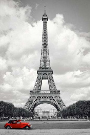 Historic Eiffel Tower - Paris Iconography