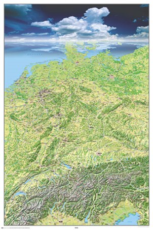 Panoramic Map of Germany - Germany