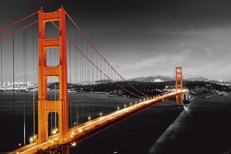 A Glowing Golden Gate Bridge - San Francisco