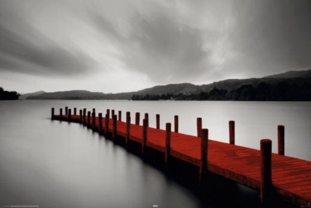 Red Jetty - Serene Landscapes