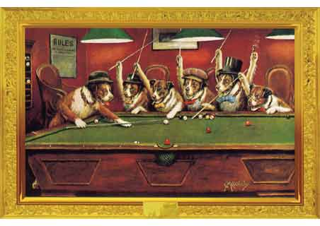 Coolidge Dogs Playing Pool - Cassius Marcellus Coolidge