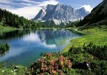 The Seebensee - A Lake in the Tyrol of Austria