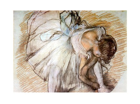 Ballerina Che Calza La Scarpetta - Edgar Degas
