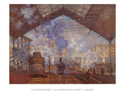 The Station at Saint Lazare - Claude Monet