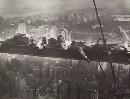 Asleep on a Girder - Radio City Workers, New York