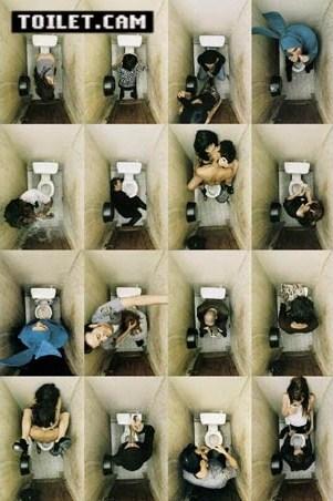 Sixteen Scenarios in a Toilet - Toilet Cam