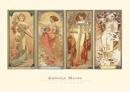 The Seasons, 1901 - Alphonse Marie Mucha