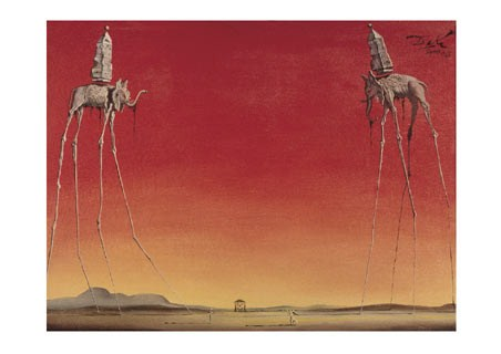 The Elephants, 1948 - Salvador Dali